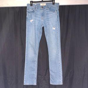 Hollister Slim Straight Epic Flex Ripped Jeans